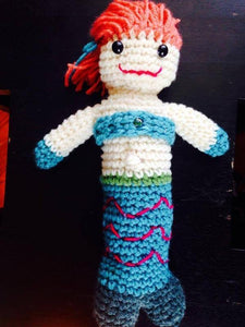 "Arabella the Mermaid Crochet Doll - 12"" Long - Maddies Mad Hatters"