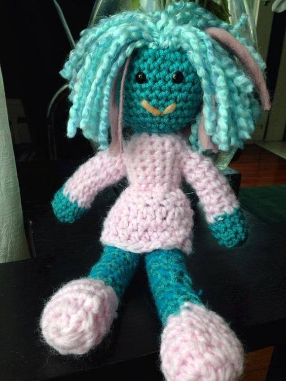 Felicity the Crochet Doll - Maddies Mad Hatters