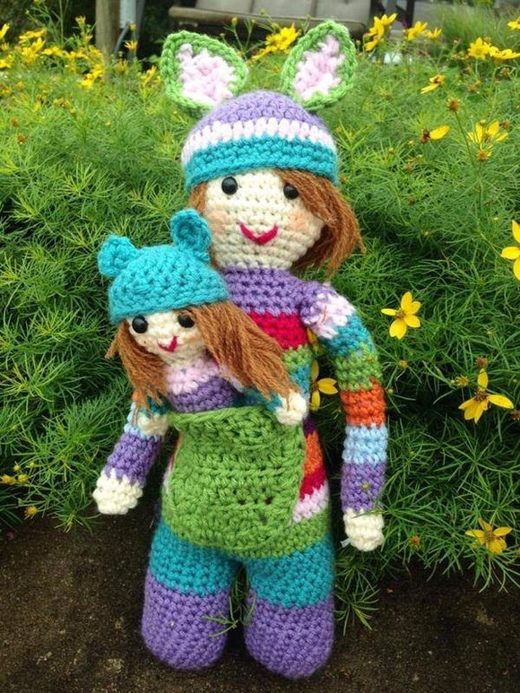 Kanga the Kangaroo Crochet Doll Set - Maddies Mad Hatters