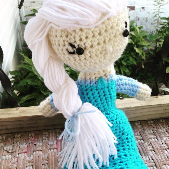 Elsa Inspired Crochet Doll, 18