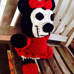 Minnie Mouse Crochet Doll - Maddies Mad Hatters