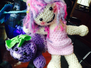 Cassie's Kitty Cat Crochet Doll, Cassie's Best Bud! - Maddies Mad Hatters