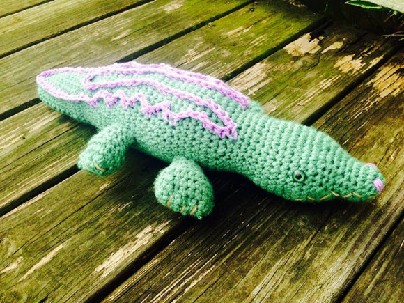Allie the Alligator Crochet Doll - 18
