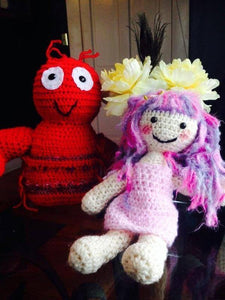 "Cassie the Crochet Doll - Over 20"" in Size"