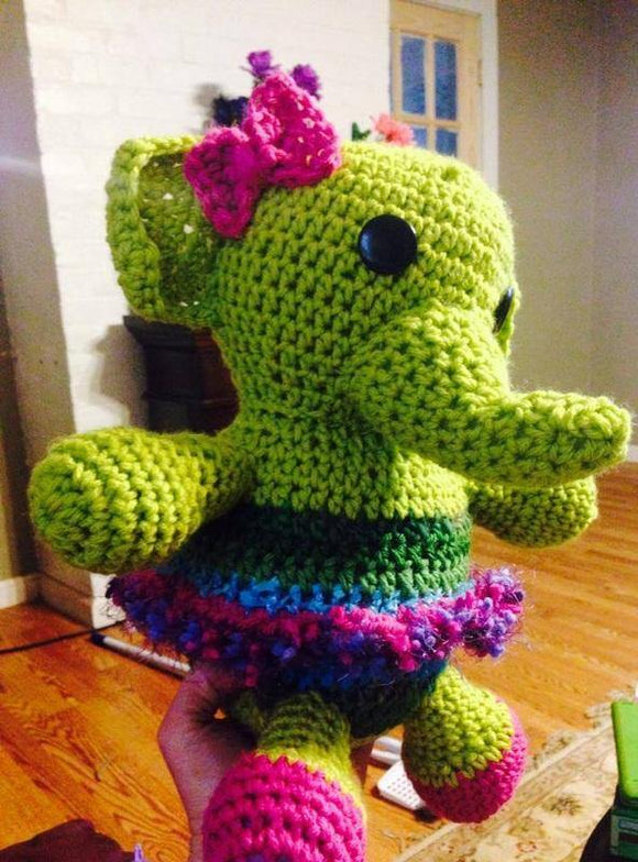 Ella the Elephant Crochet Doll