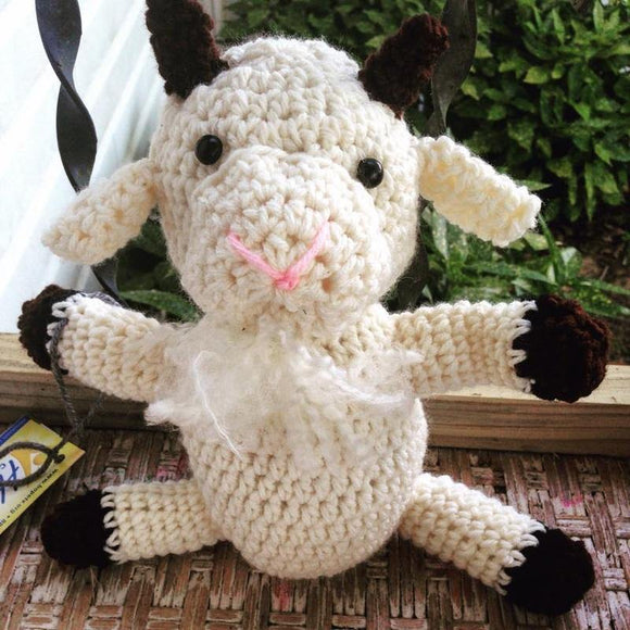 Billy Goat Gruff Crochet Doll - Maddies Mad Hatters