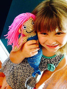 Mollie the Mermaid Crochet Doll - Maddies Mad Hatters