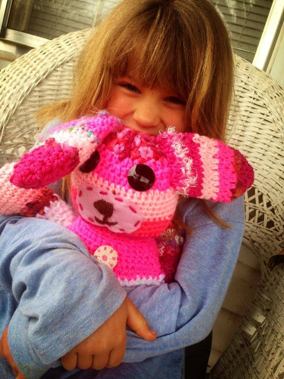 Sassy the Bunny Crochet Doll - Maddies Mad Hatters