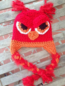 Angry Owl Crochet Hat - Maddies Mad Hatters