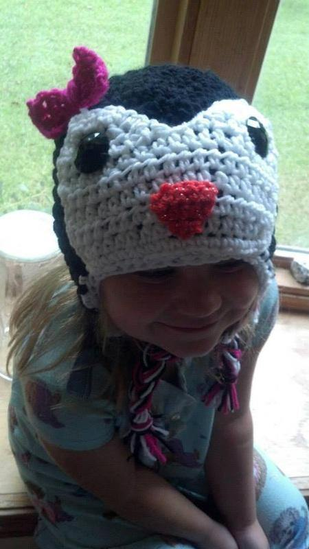 Pretty Penguin Crochet Hat - Maddies Mad Hatters