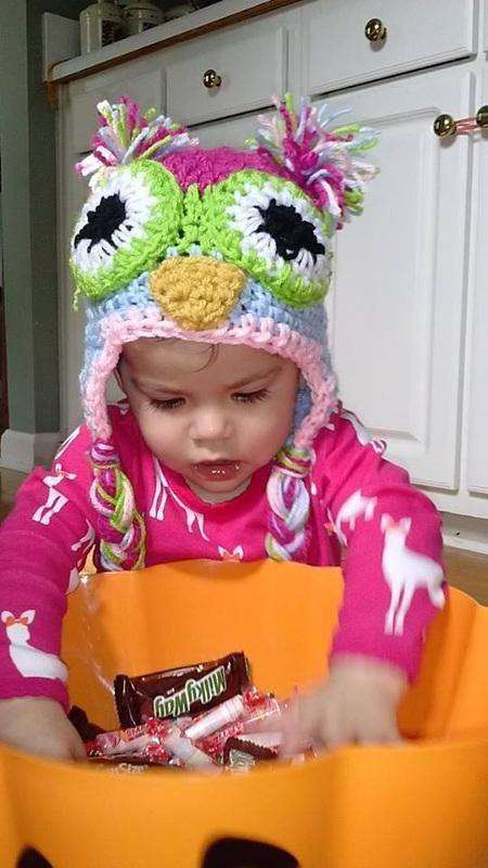 Hootie Girl Owl Crochet Hat - Maddies Mad Hatters