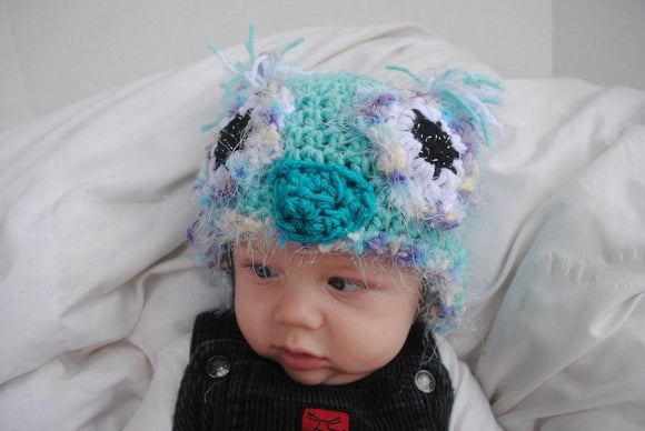 Owl Crochet Hat with Sparkles - Maddies Mad Hatters