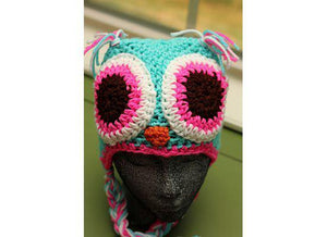 Owl Crochet Hat with Extra Large Eyes