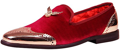 Velvet Loafer  with Metal Eagle Buckle