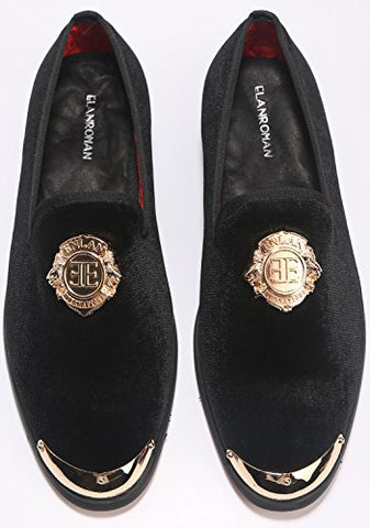 Velvet Loafers Lion  Golden Metal