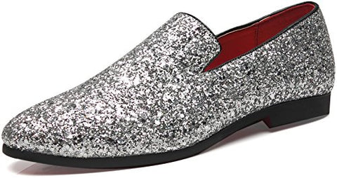 Metallic Slip On Loafers