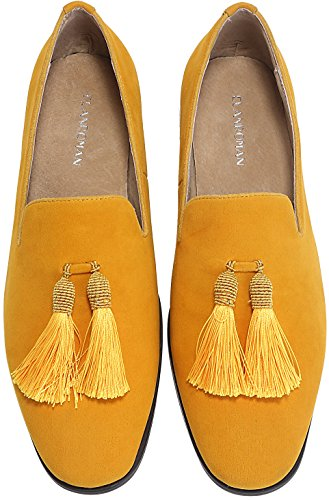 Slip-On  Velvet Loafers w/ Tassels