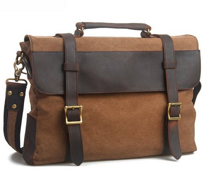Canvas/Leather Briefcase