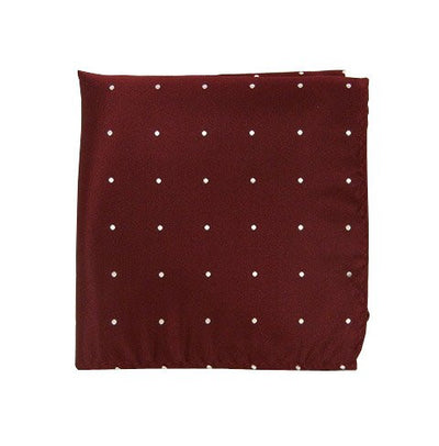 Pocket Square: Burgundy with White Dots