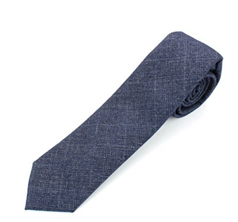 Cotton Necktie Tie with Distressed Weave Vintage Pattern