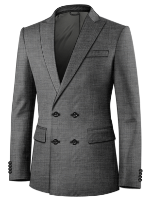 Black Stag Double Breasted 4 Button Suit