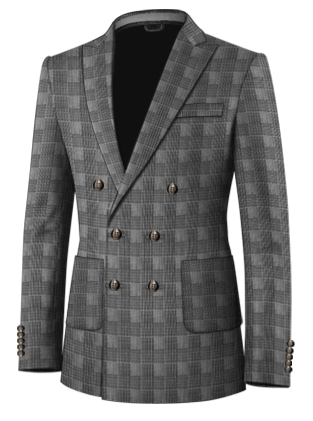 Black Stag Double Breasted 6 Button Suit