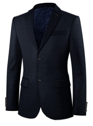 Black Stag Notched Lapel Two Button Suit