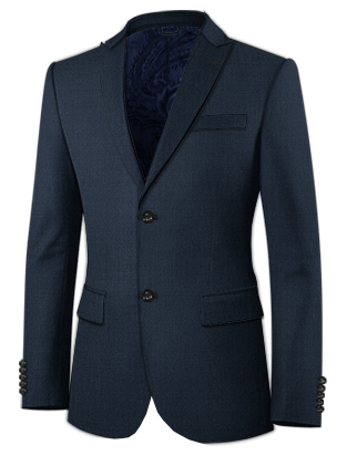 Black Stag Peaked Lapel Two Button Suit