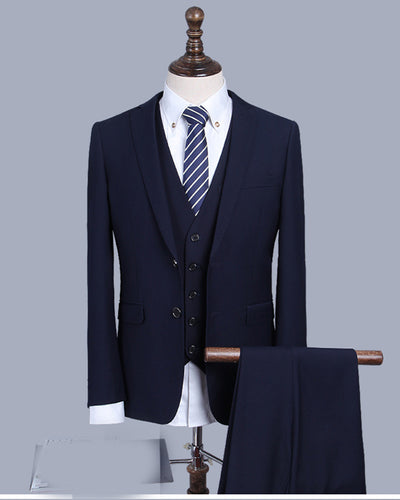 Navy Custom Made Suit