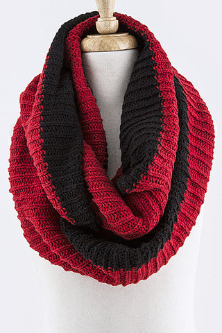 infinity scarf red black