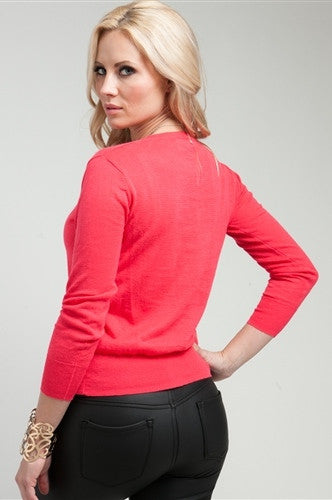 Coral Knit Sweater - FINAL SALE