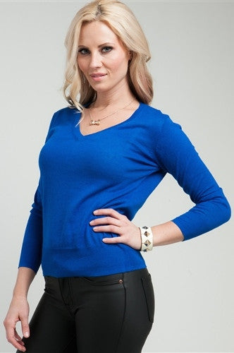 Royal Blue Sweater - FINAL SALE