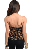 Black & Brown Leopard Print Shirt - FINAL SALE