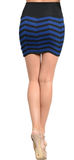 blue and black mini skirt
