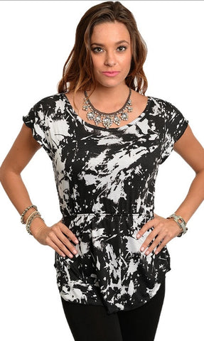 Black White Abstract Shirt