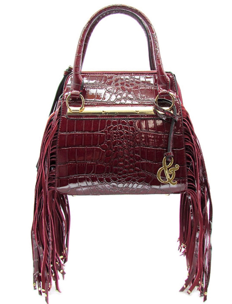 red fringe purse