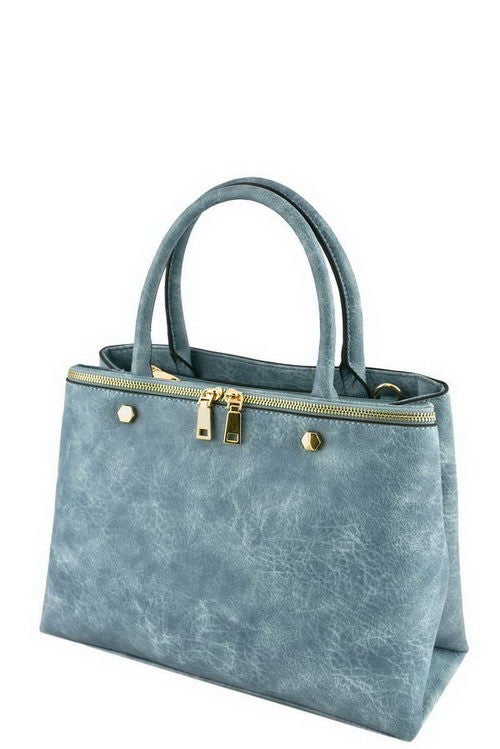 heavenly blue designer tote
