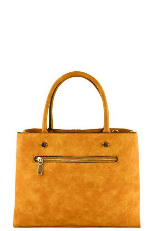 mustard yellow tote bag