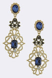 Jewel Baroque Design Earrings