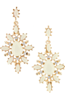 Ornate Ivory Cluster Earrings