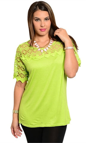 summer time lime green shirt