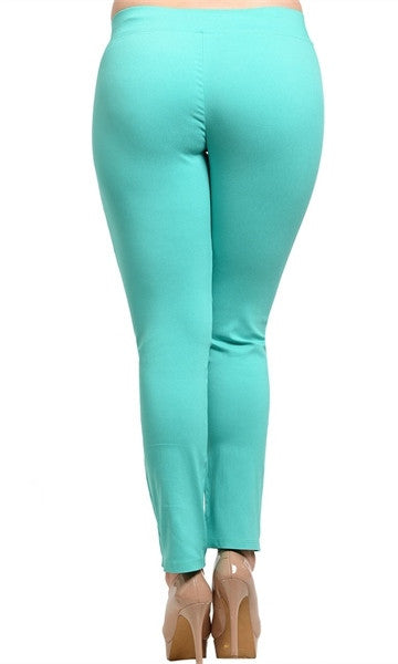 Plus Size Stretch Knit Pants - FINAL SALE