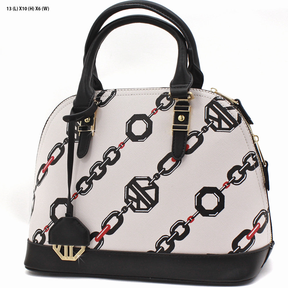 Black and Cream Satchel