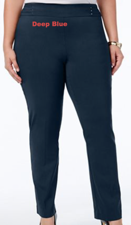 Blue Stretch Plus Size Pants