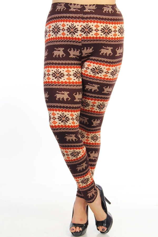 Fair Isle Print Leggings- FINAL SALE