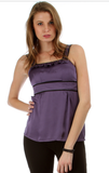 purple empire waist top
