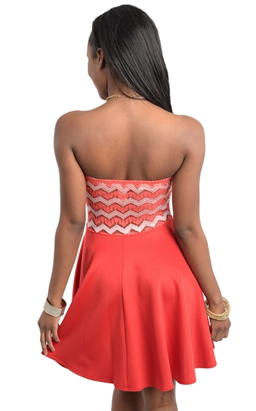 Coral Sweetheart Dress
