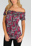 Rose Ruched Blouse - FINAL SALE