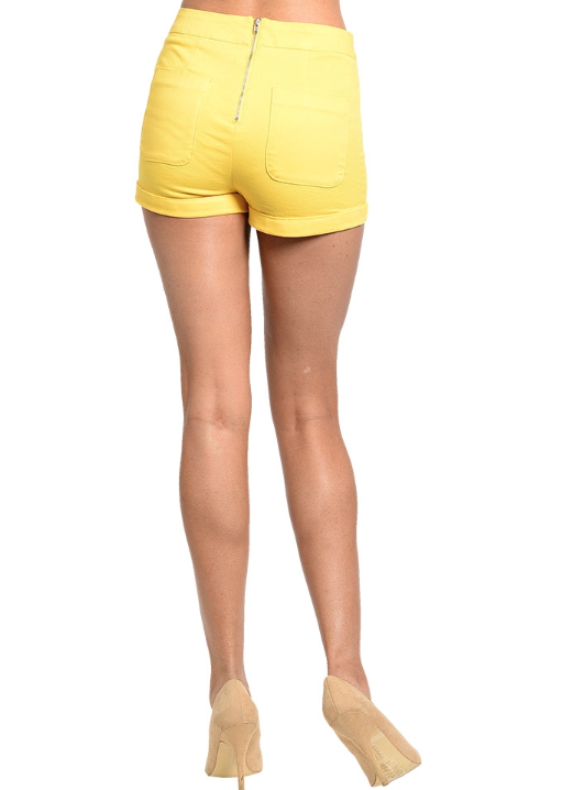 Sunshine Yellow Shorts