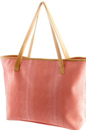 casual pink tote purse